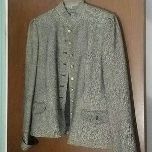 Grey high collar wool lined Jacket
